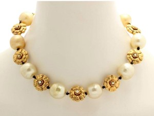 Chanel Vintage Pearl and Camellia Flower