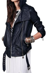 Free People Leather Leather Jacket