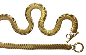 Ann Taylor Gold Vermeil Snake Necklace