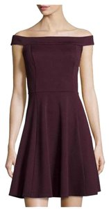 Label by 5 twelve Fit And Flare Plum Dress