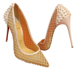 Christian Louboutin Beige/White/Ivory Pumps