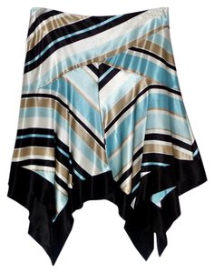 bebe Skirt Black, Blue, White, Tan