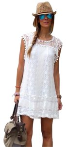 short dress White on Tradesy