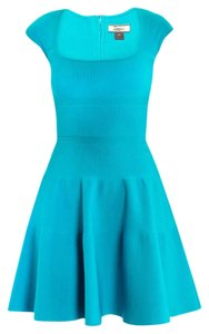 ISSA London short dress turquoise blue on Tradesy