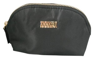 Anna Sui Black Nylon Clutch/ Cosmetic Bag