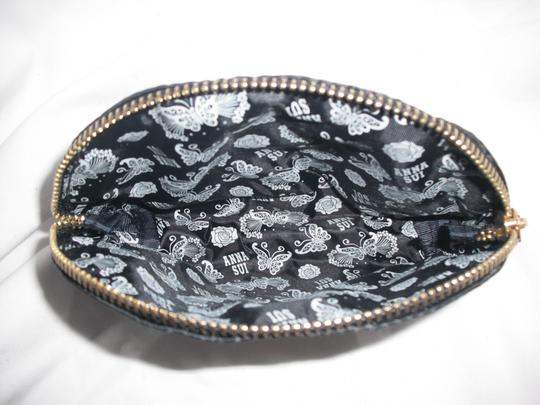 Anna Sui Black Nylon Clutch/ Cosmetic Bag Image 2
