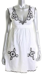 Indah short dress White Embroidered Pockets Cotton on Tradesy