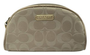 Coach COACH Exclusive Estee Lauder Zippered Cosmetic Make-Up Case Gold