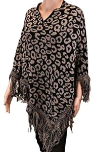 Other Leopard Animal Print Sweater Cape