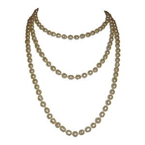 Chanel Chanel Baroque Pearl Flapper Necklace
