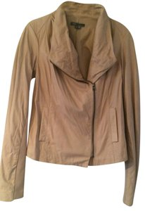 Vince Blush Light Pink Leather Jacket