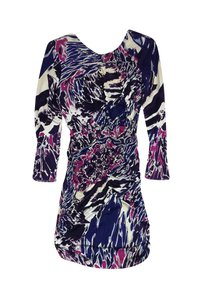 Emilio Pucci short dress Pink Ruched Silk on Tradesy