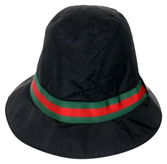 gucci black nylon web grossgrain logo bucket hat 31 off retail. Black Bedroom Furniture Sets. Home Design Ideas