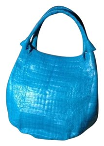 Nancy Gonzalez Crocodile Cerulean Hobo Bag