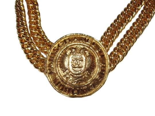 Chanel Chanel Eagle Crest Coin Necklace Image 1