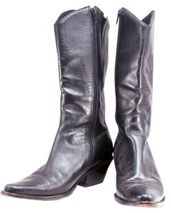 Matisse Western Embossed Leather Black Boots