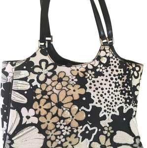 Isabella Fiore Satchel in Black And White