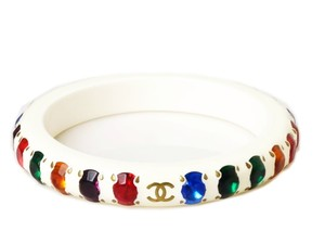 Chanel Vintage Chanel Color Stone Bangle Bracelet Rare