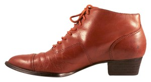 Franco Fortini Vintage Leather Lace Up Tan Boots