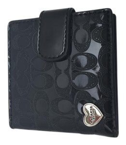 Coach COACH Perforated Embossed Gloss Folding Compact Mirror F62404 Black