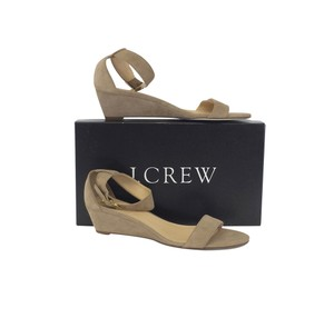 J.Crew Taupe Suede Sandal Wedges