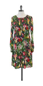 Tory Burch short dress Floral Print Silk Long Sleeve on Tradesy
