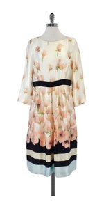 Max Mara short dress Multi Color Floral Silk Long Sleeve on Tradesy