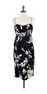 David Meister short dress Black & White Silk Spaghetti Strap on Tradesy
