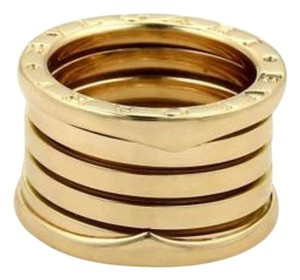 BVLGARI Bulgari Bvlgari B Zero-1 18k Yellow Gold 14mm Wide Band Ring 50-us