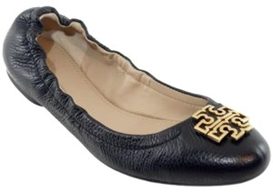 Tory Burch Melinda Leather Ballet Black Flats