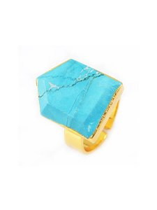 Other Arrow Turquoise Crystal Natural Stone Gold Ring
