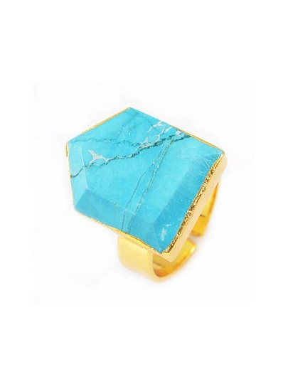 Preload https://img-static.tradesy.com/item/20092506/turquoise-arrow-crystal-natural-stone-gold-ring-0-0-540-540.jpg
