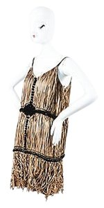 Lanvin short dress Beige Tan Black Detail Spaghetti Strap on Tradesy