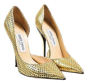 Jimmy Choo Metallic Mirrored Gold Pumps