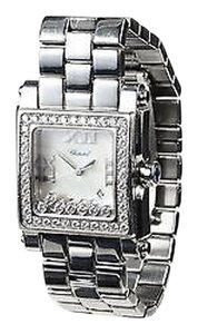 Chopard Chopard K Stainless Steel Mother Of Pearl Diamond Happy Sport Square Watch