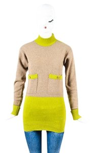 Chanel Green Cashmere Sweater