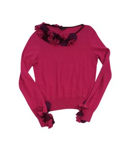 Etro Pink Floral Applique Sweater