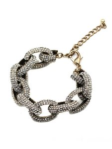 Other Pave Stone Crystal Chain Link Bracelet
