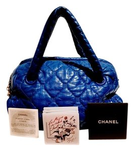 Chanel Lambskin Quilted Chic Satchel in Royal Blue