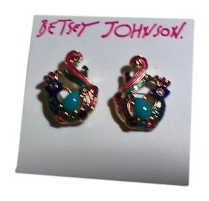 Betsey Johnson Betsey Johnson Exotic Bird Earrings for pierced ears NWT!