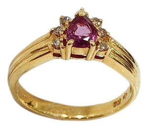 Other 18K Yellow Gold Tourmaline Diamonds Ring