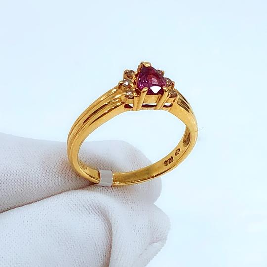 Other 18K Yellow Gold Tourmaline Diamonds Ring Image 1