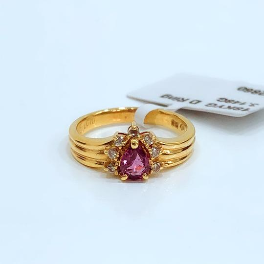 Other 18K Yellow Gold Tourmaline Diamonds Ring Image 2