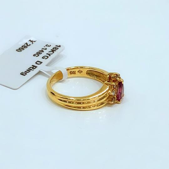 Other 18K Yellow Gold Tourmaline Diamonds Ring Image 4