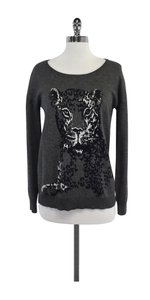 Joie Grey Tiger Print Wool Blend Sweater