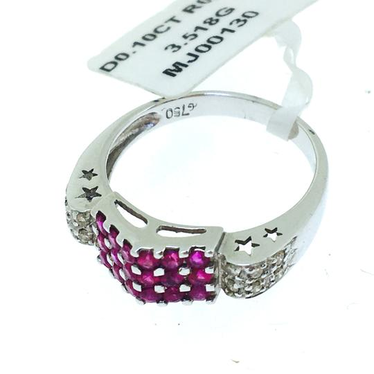 Other 18K White Gold Rubies Diamonds Ring Image 4