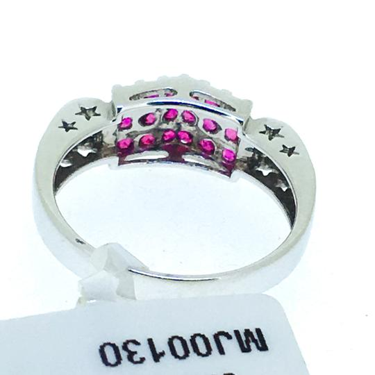 Other 18K White Gold Rubies Diamonds Ring Image 5