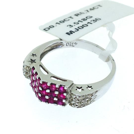 Other 18K White Gold Rubies Diamonds Ring Image 6