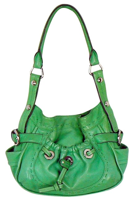 Item - Sale Bright Kelly Green Leather Hobo Bag