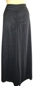 JS Collections Wide Legs Sheer Overlay Super Flare Pants Black